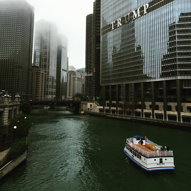 Simply a Lovely Day in #chicago #sarcasm #enjoyillinois #trumptower