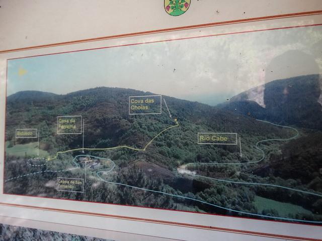 Panel Informativo Ruta da Cova das Choias - A Pobra do Brollón