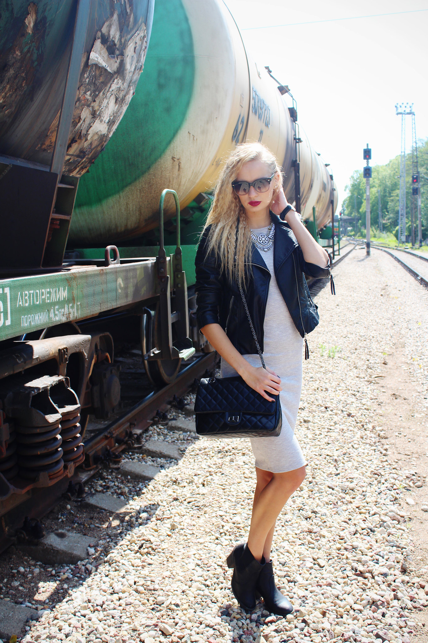 grey-midi-dress