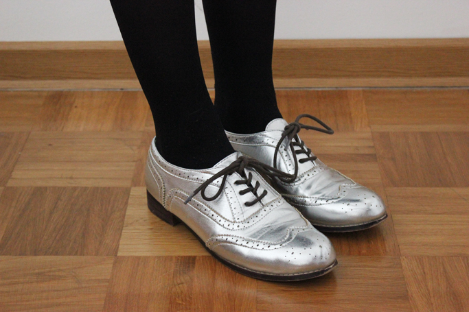 silberne brogues budapester
