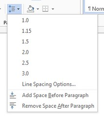 word 2013 paragraph line spacing