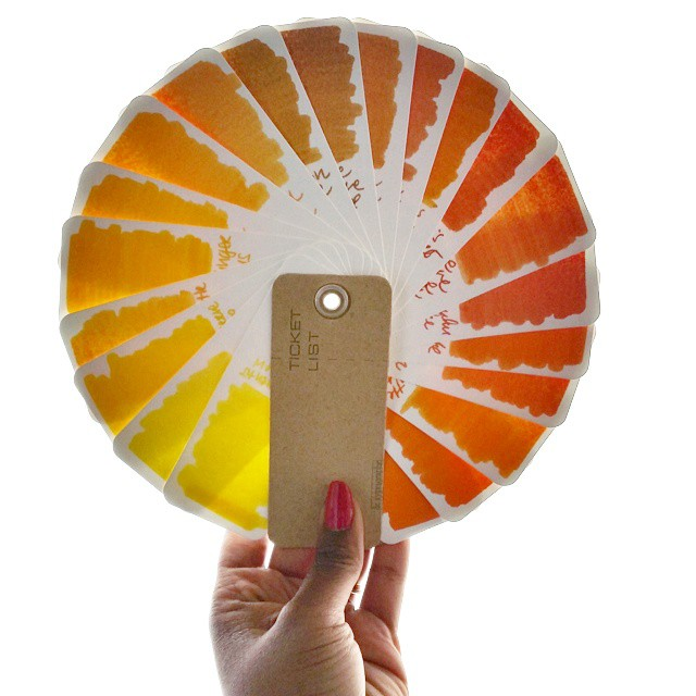 If the rays of the sun won't come to me, I shall make my own! #colorcharted #colorcoordination #inkophile #ticketlist #letypographe #yellow #orange #colorsofthesun #colorcartwheel #sunset #sunrise #fpgeeks #colorcharted_yellow #sunshine