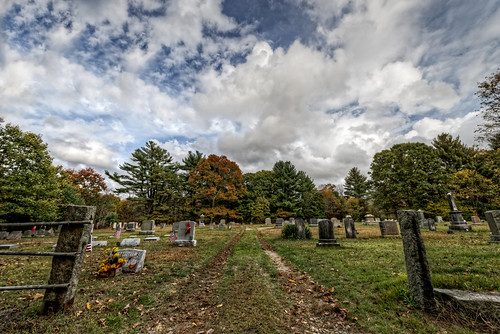 Hopkins Mills Cemetery by Frank Grace, via I {heart} Rhody