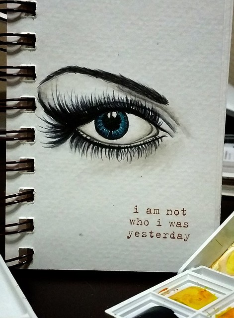 {I Am Not Who I Was Yesterday} Watercolor