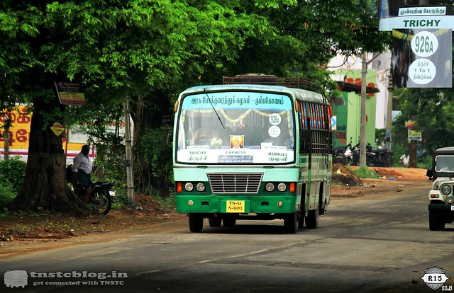 TN45 N 3693 working Trichy - Kumuli  . Salient features are DGL - Trichy 1 to 1 operation and reservation enabled.