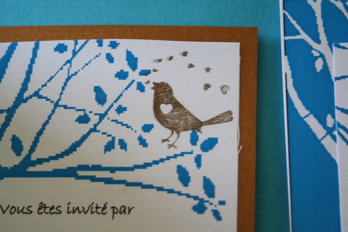 Heyda's Bird in bronze ink
