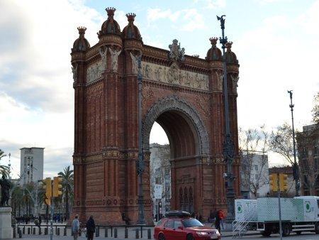 Obiective turistice Barcelona arc de triumf barcelona