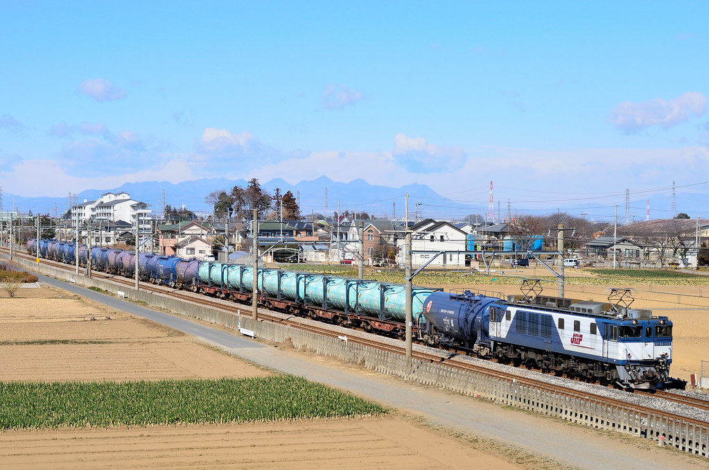 4074レ/EF64 1010+コキ+タキ