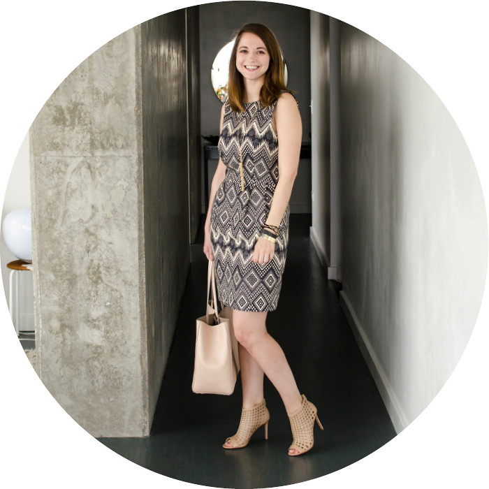 may outfits, factory diamondpritn basketweave dress, grid shoes, cage heels, charles by charles david, banana republic larkin tote, rose blush leather tote