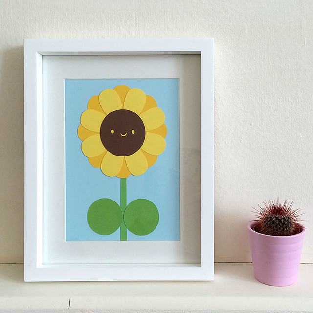 Sunflower Paper Cut