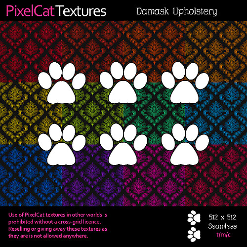 PixelCat Textures - Damask Upholstery