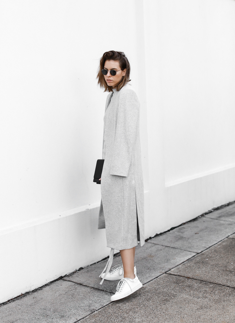 modern legacy, fashion blog, grey street style, minimal, sneakers, grey coat, Witchery (1 of 1)