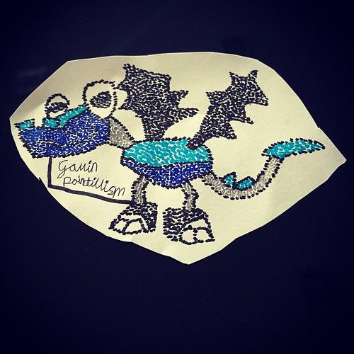 G1's #pointillism #artwork depicting #lego #mixels