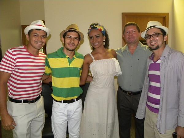 Everson César, Luiz Gama, Marcele, Izonilson e Divaldo