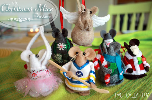 Christmas Mice sewing tutorial