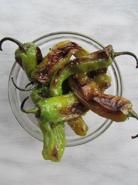 blistered shishito peppers on twothirtyate.com
