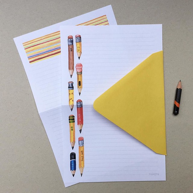 I finally listed this #tinypencil #stationerypaper set on etsy. Catching up with #robayre100days since I didn't post one yesterday