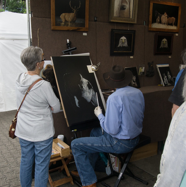 Scratchboard Artist at Work