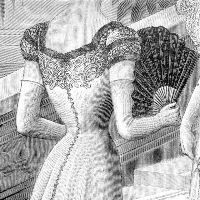 Détail du dos de la robe