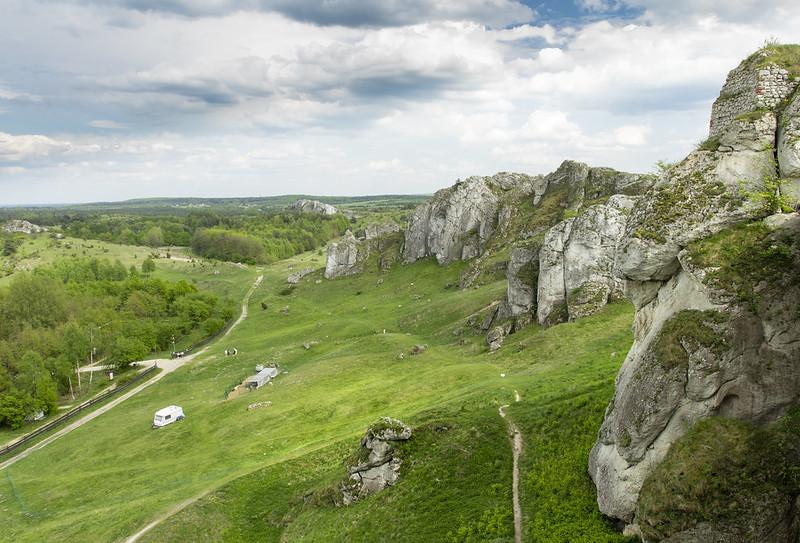 Zamek Olsztyn - Castle landscape - Góry Towarne