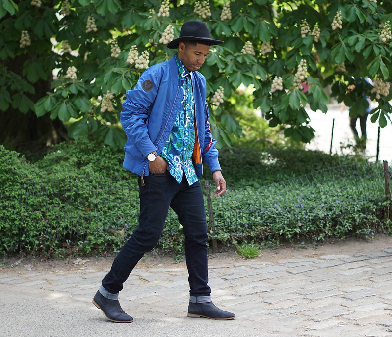 Street Style Blue Flight Jacket