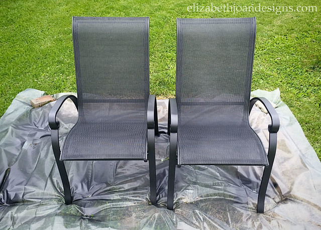 Patio Chairs Painted Black