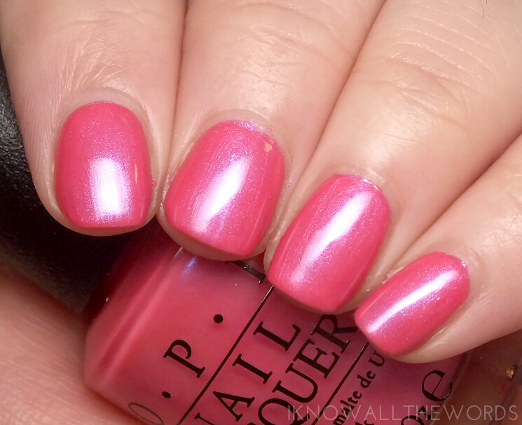 brights by opi 2015 hotter than you pink