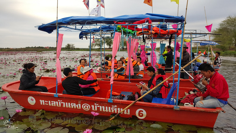 udon thani red lotus lake boats