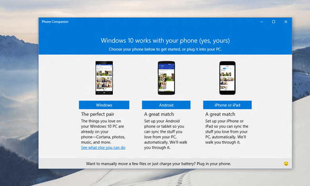 windows 10, ios, android, cortana