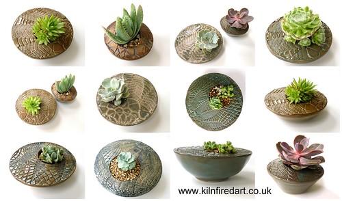 succulent planters ceramic handmade x