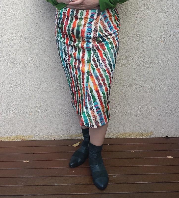 Style Arc Taylor skirt in Spotlight Scuba
