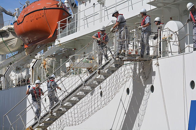 safety netting on gangway
