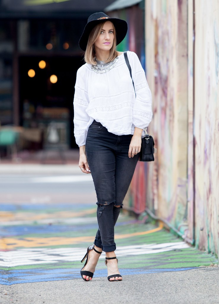 Lace white top by Bohemian Traders
