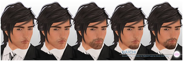 [DBF] Daichi skin The Mesh Project head installers facial hair