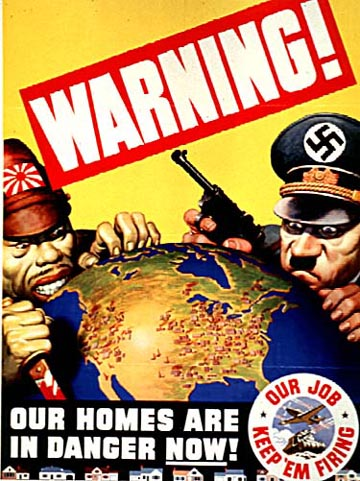 World War II Poster - Warning!