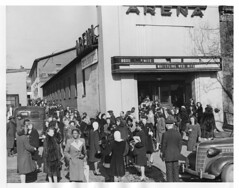 DC telephone operators leave union meeting at Turner's Arena in 1946