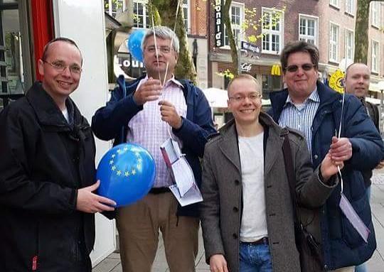 Luftballons der SPD um Europatag 2015