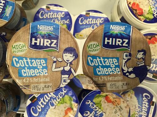 Nestlé Hirz Hüttenkäse 30% Preisaufschlag für identisches Produkt
