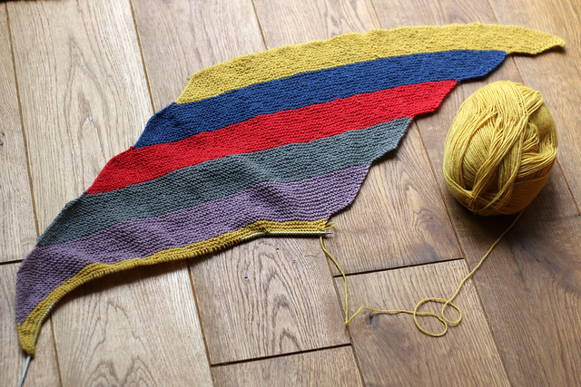 Unicorn Parallelograms Scarf in progress
