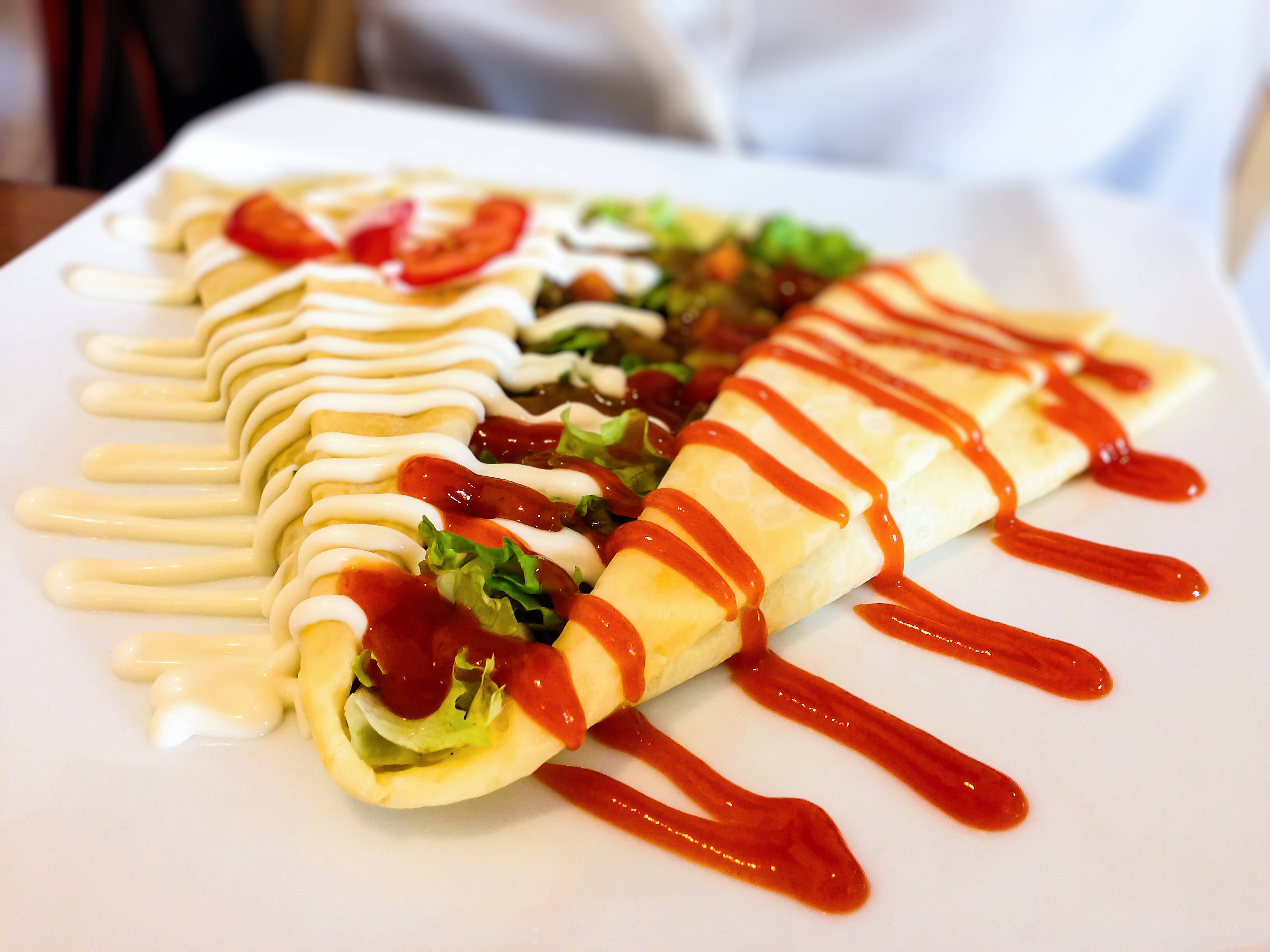 Japanese curry crepe