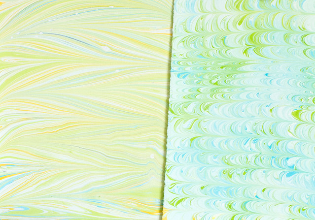 DIY Marbled Paper and Fabric | click through for the full tutorial!