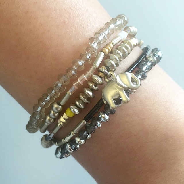 LOFT Elephant Stretch Bracelet Set