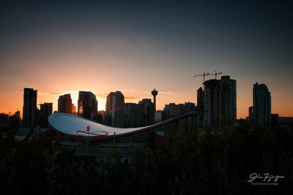 Saddledome Sunset