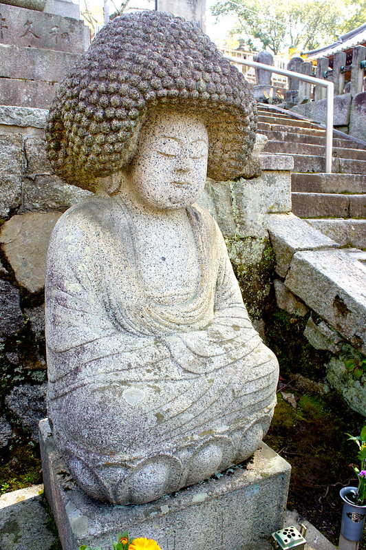 アフロ石仏(五劫思惟阿弥陀仏)/金戒光明寺(Konkai Komyo-ji Temple / Kyoto City) 2015/03/17