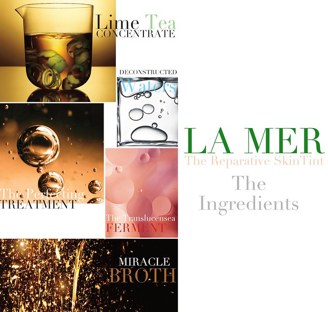 la mer reparative skintint collage