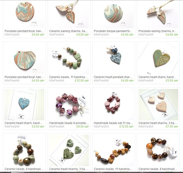 ceramic jewellery components on etsy