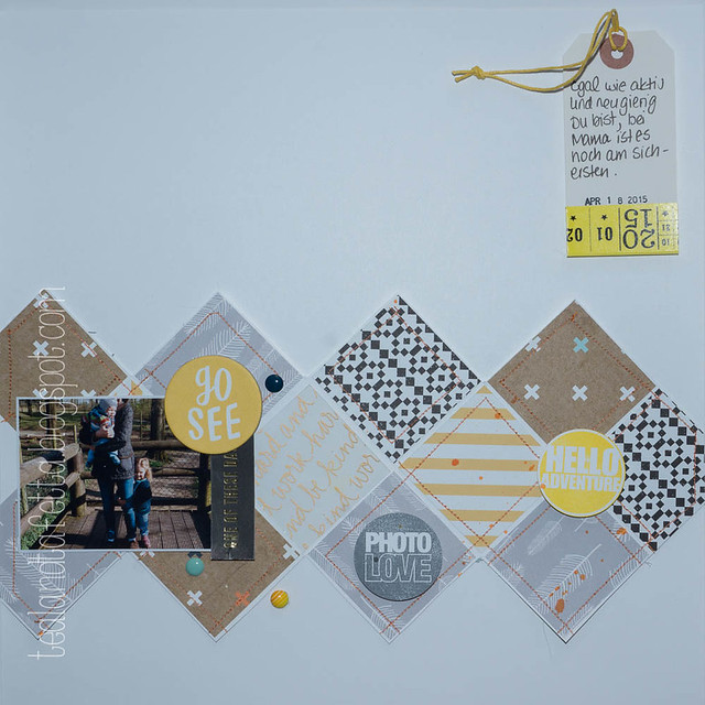 Scrapbook Layout: Go See Do