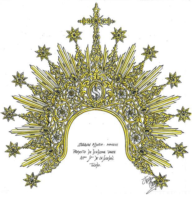 Proyecto de diadema para NNutra. Sra. de la Soledad de Toledo
