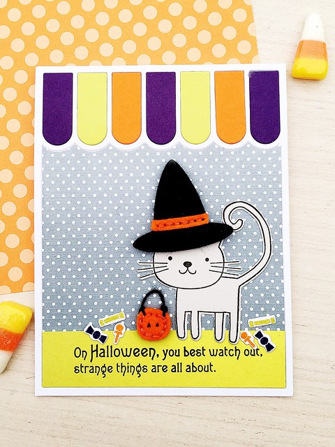 Stitched Witch Hat, Superstition Stamp Set, Cat's Meow Stamp Set, Awning Cover Plate by Papertrey Ink