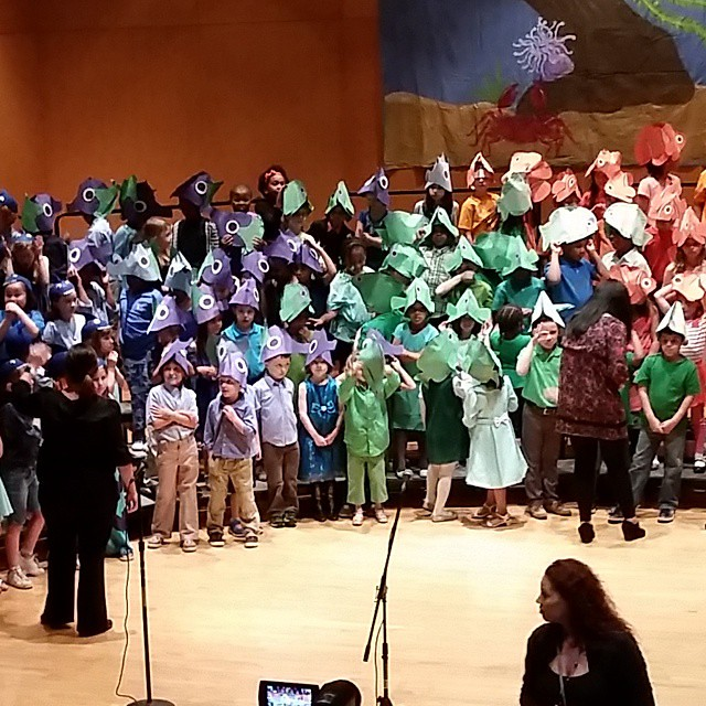 Getting ready for the Campus International spring production!  My girl is the fish in the front in the sparkly dress. #thisiscle #CLEVELAND #216 #clevelandgram